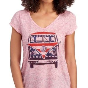 VW van Americana t shirt Women's Small NWT